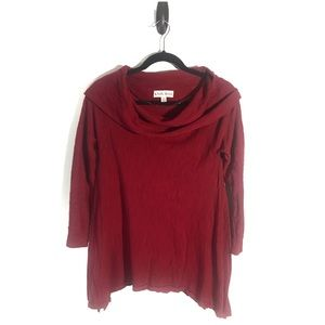 Knox Rose Red Cowl Neck Tunic M